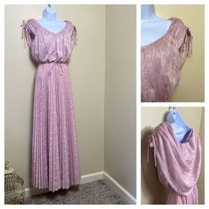 70s floor length floral gown